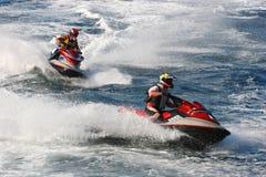 Compétition sportive de moteur de l'eau images libres de droits