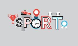 Compétition sportive et fond créatif de calibre d'abrégé sur bannière de Web de formation illustration stock