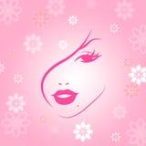 Compõe indica o cuidado facial e atrativo ilustração royalty free