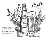 Comp. della birra del mestiere Fotografia Stock Libera da Diritti