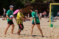 Comp. di calcio della spiaggia degli studenti della polizia v Immagine Stock Libera da Diritti