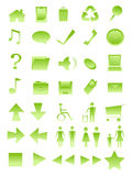 Comp icons. A collection of ecological computer icon Royalty Free Stock Image