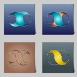 Compañía abstracta del logotipo Imagen de archivo libre de regalías