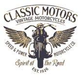 Compañía clásica de la motocicleta del vintage Foto de archivo