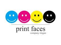 Compañía de la insignia del departamento de impresión ilustración del vector
