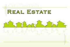 Compañía de propiedades inmobiliarias stock de ilustración