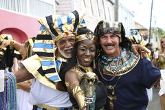 Compañía del desfile de carnaval de Crucian del egipcio Imágenes de archivo libres de regalías