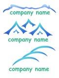 Compañía del logotipo de la montaña stock de ilustración