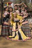 Compañía femenina de la danza Foto de archivo
