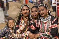 Compañía india de la danza de Rajasthán Fotografía de archivo