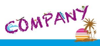 Compañía Logo Vector Foto de archivo