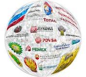Compañías petroleras grandes stock de ilustración