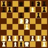 Compañero en dos movimientos en el tablero de ajedrez y el juego de caracteres de los pedazos de ajedrez Ilustración del vector stock de ilustración