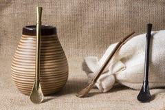 Compañero fresco del yerba con los accesorios Fotos de archivo