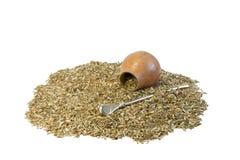 Compañero y calabash del té Imagen de archivo