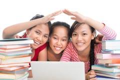 Compañeros de clase felices Fotografía de archivo libre de regalías