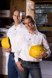 Compañeros de trabajo en sitio de almacenaje de la oficina Imagen de archivo libre de regalías