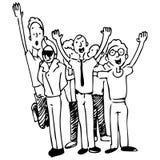 Compañeros de trabajo felices Imagen de archivo libre de regalías