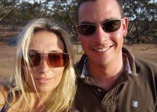 Compañeros que acampan del australiano Foto de archivo
