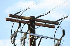 Compañia de electricidad poste Imagen de archivo libre de regalías