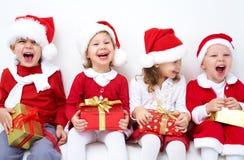 Compañía divertida de la Navidad Fotografía de archivo