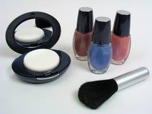 Compact & Nagellak Stock Afbeeldingen