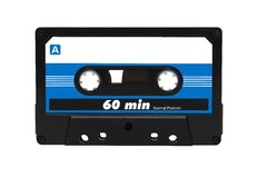 Compact audio cassette tape Stock Photo