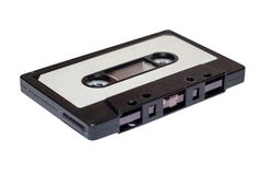 Compact Audio Cassette. On white background stock image