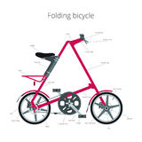Compact bike with text Royalty Free Stock Images