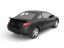 Compact black car back view royalty free illustration
