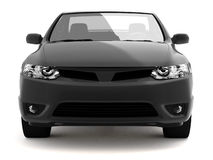 Compact black car front view Stock Image