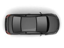 Compact black car top view Stock Photos