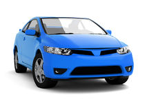 Compact blue car Royalty Free Stock Images