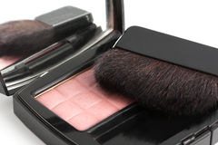 Compact blusher with brush Stock Photos