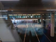 Compact Bridge with Passengers, Zurich-Airport ZRH Royalty Free Stock Photo