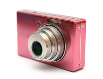 Compact camera. Isolated on white Royalty Free Stock Image