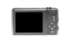 Compact camera with black display Royalty Free Stock Images