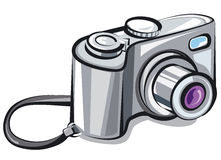 Compact camera. Illustration of the compact camera Stock Photo