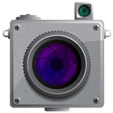 Compact camera with a lens. Stock Image