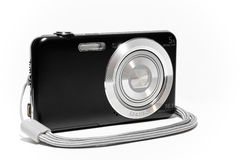 Compact camera from the side with strap Stock Image