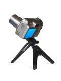 Compact camera on tripod stock photos