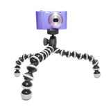 Compact camera on tripod Royalty Free Stock Image