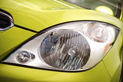 Compact Car Headlight Royalty Free Stock Photos