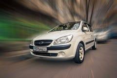 Compact car Hyundai. Royalty Free Stock Photography