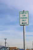 Compact car parking sign Stock Photo