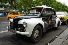 Compact car Renault 4CV (Police car). Stock Photo