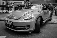 Compact car Volkswagen Beetle Cabriolet, 2016 Royalty Free Stock Image
