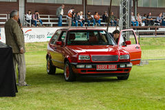 Compact car Volkswagen Rallye Golf Mk2 Royalty Free Stock Photo