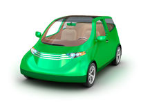 Compact car on white background Stock Image