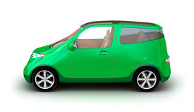 Compact car on white background Royalty Free Stock Photo
